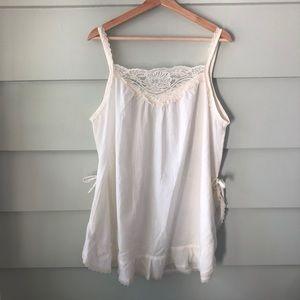 Vintage No Brand Short Cotton Nightgown Tank